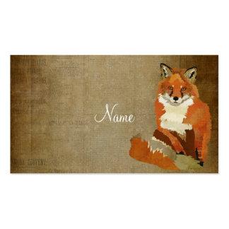 Carte de visite vintage de Fox rouge