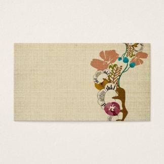 Carte de visite vintage de Sakura et de fleurs