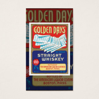 Carte de visite vintage de whiskey