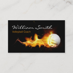 Carte De Visite Volleyball Coach Business Card