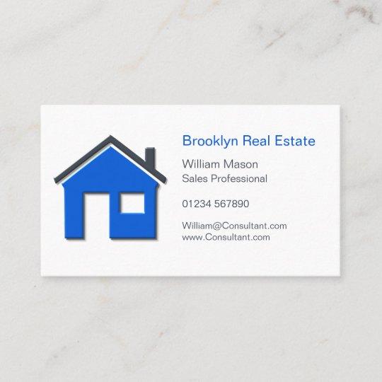 Carte De Visite Vraie voiture simple d'agent immobilier d'icône à | Zazzle.fr
