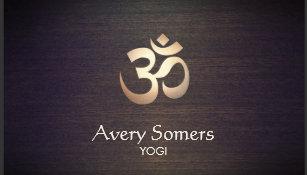 Carte De Visite Yoga Symbole LOM Dor Et Regard Du