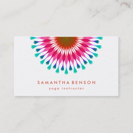 Carte De Visite Yoga Lgant Logo Fleur Lotus
