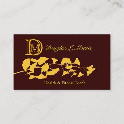 Carte De Visite Mini Professionnel Dor Branche Ginkgo Dautomne