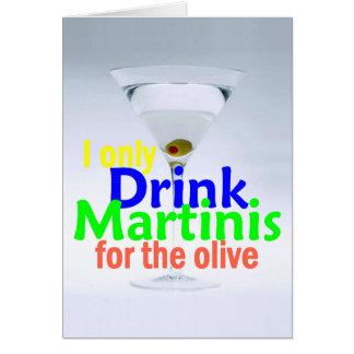 Carte de vodka de genièvre d'olives de MARTINI de