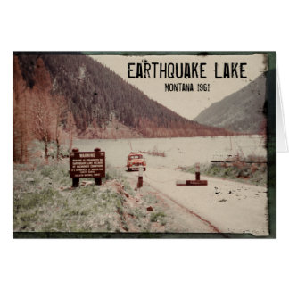 Carte de voeux 1961 du Montana de lac earthquake