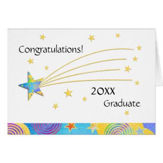 Carte de voeux 2015 étoilée d'obtention du diplôme