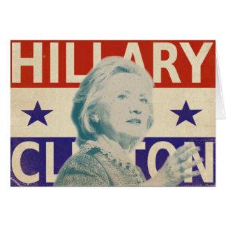 Carte de voeux 2016 d'élection de Hillary Clinton