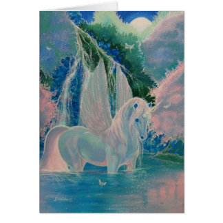 """Carte de voeux à ailes de licorne """"du monde"""