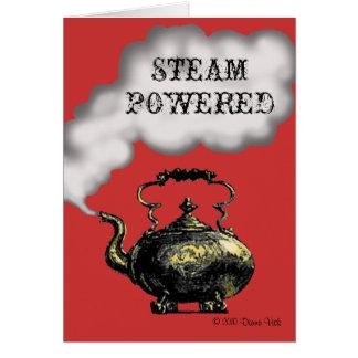 Carte de voeux actionnée par vapeur