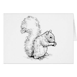 Carte de voeux adorable d'écureuil
