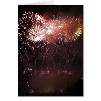 Carte de voeux : affichage de feux d'artifice