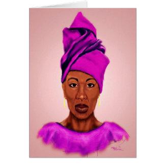 Carte de voeux africaine de reine