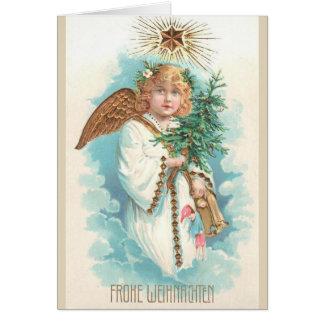 Carte de voeux allemande victorienne de Noël