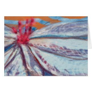 Carte de voeux amicale de blanc de lis de fleur