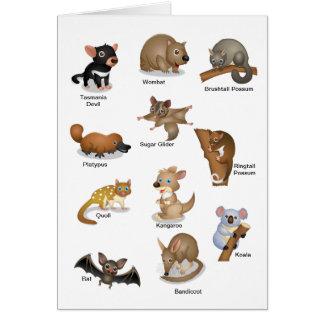 Carte de voeux animale australienne