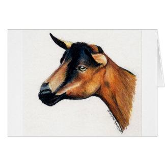 """Carte de voeux animale d'art """"de chèvre"""