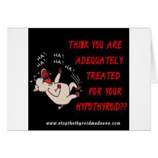 CARTE DE VOEUX - arrêtez la folie thyroïde