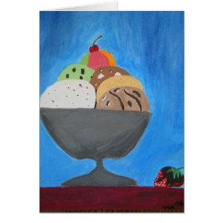 """Carte de voeux avec la """"crème glacée"""" par Larsen"""