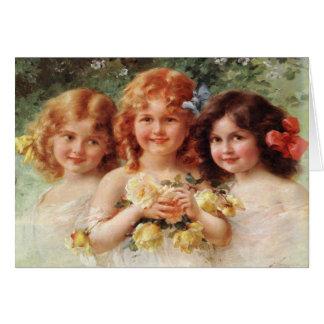 Carte de voeux avec la peinture d'Emile Vernon