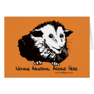Carte de voeux avec l'opossum de rassurer