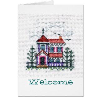 Carte de voeux bienvenue