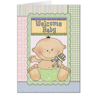 Carte de voeux bienvenue de félicitations de bébé
