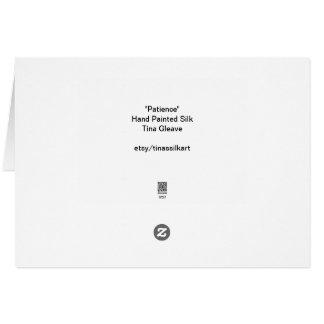 Carte de voeux blanche de fleur d'anémone
