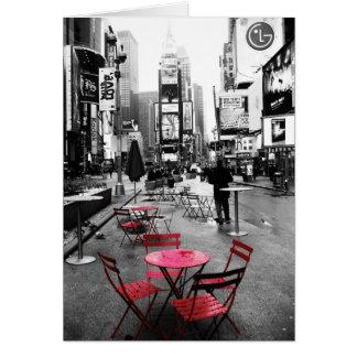 Carte de voeux blanche de Times Square et rouge