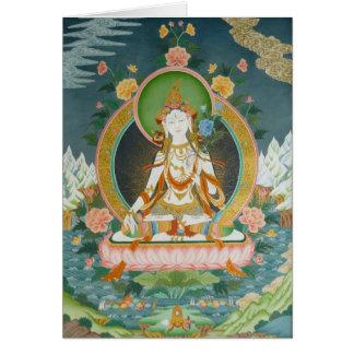 Carte de voeux blanche Tara
