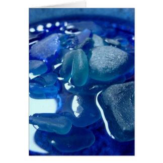 Carte de voeux bleue de bord de la mer
