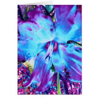 Carte de voeux bleue de jonquille
