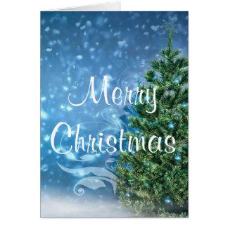 Carte de voeux bleue de Noël