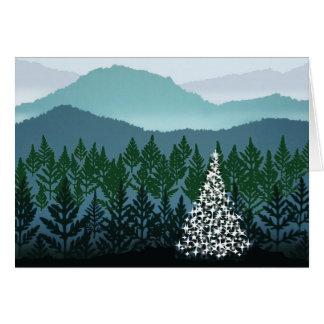 Carte de voeux bleue de Noël de Ridge