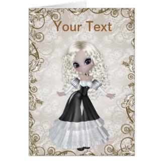 Carte de voeux blonde de princesse