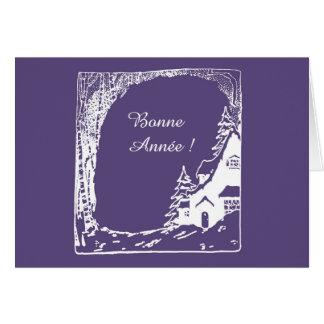 Carte de voeux Bonne Année, enveloppe incluse