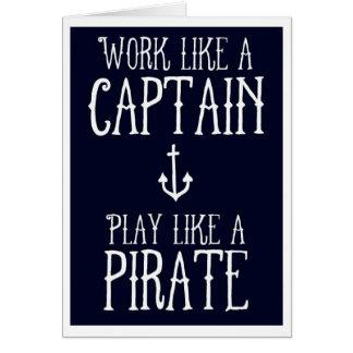 Carte de voeux - capitaine/pirate