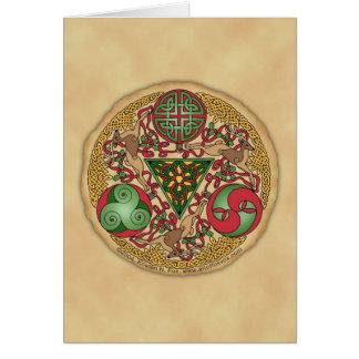 Carte de voeux celtique de bouclier de renne