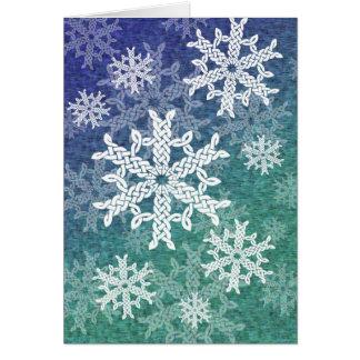 Carte de voeux celtique de flocons de neige