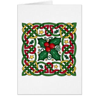 Carte de voeux celtique de guirlande et de houx