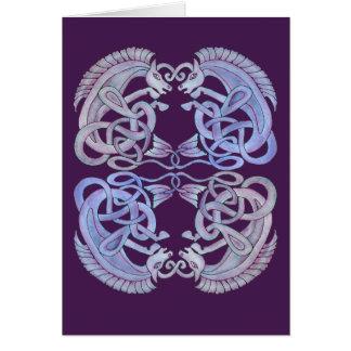 Carte de voeux celtique de Kelpies