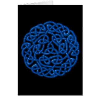 Carte de voeux celtique de noeud (blanc à