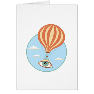Carte de voeux chaude de ballon à air de globe