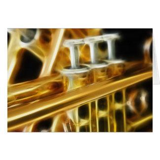 Carte de voeux chaude de trompette