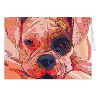 Carte de voeux colorée de chien de boxeur
