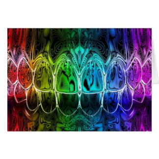 Carte de voeux colorée de dentiste de conception