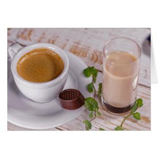 Carte de voeux confortable de café
