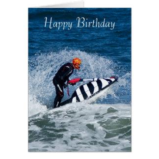 carte de voeux d anniversaire de sport aquatique d