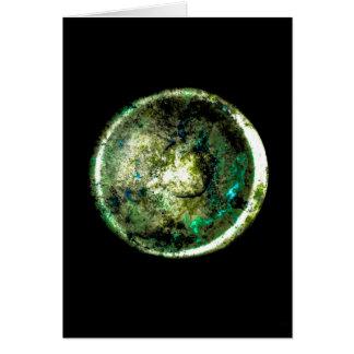 Carte de voeux d art de JTG de Alumino Luna