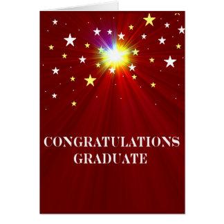 Carte de voeux d obtention du diplôme d étoiles